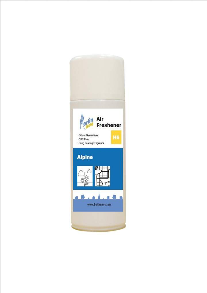 MERLIN AEROSOL AIR FRESHENERS ALPINE - 12x400ml