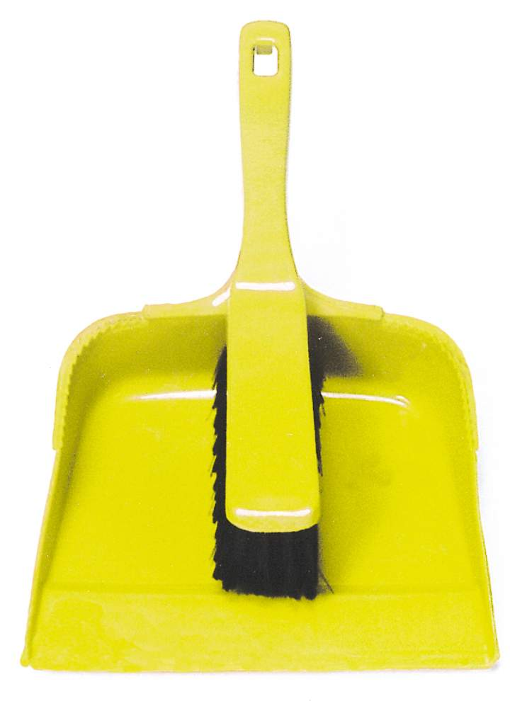 OPEN BUDGET DUSTPAN & BRUSH SET YELLOW - Set