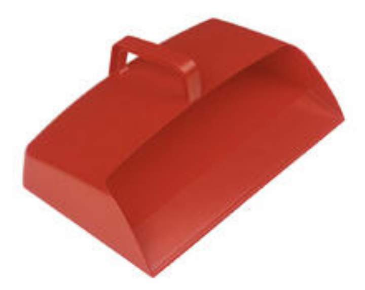 ENCLOSED PLASTIC DUSTPAN GREEN - Each