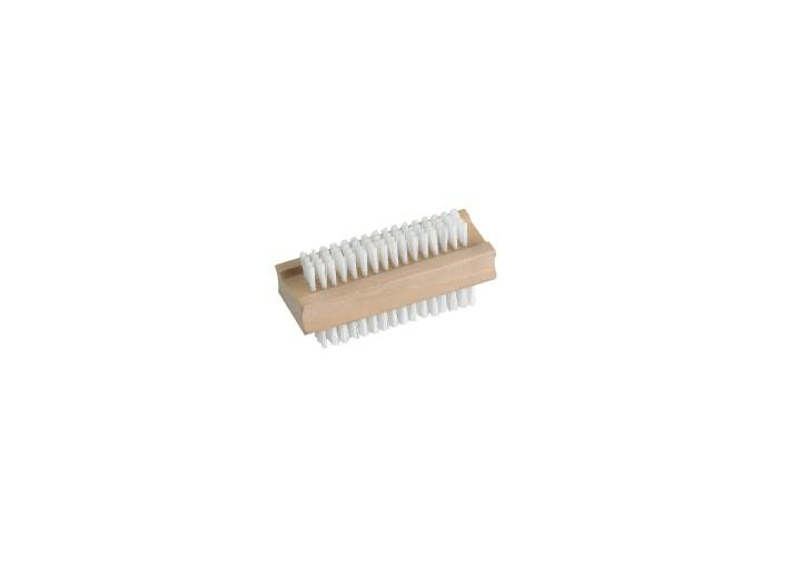 PVC WOODEN DOUBLE SIDED NAIL BRUSH - Each