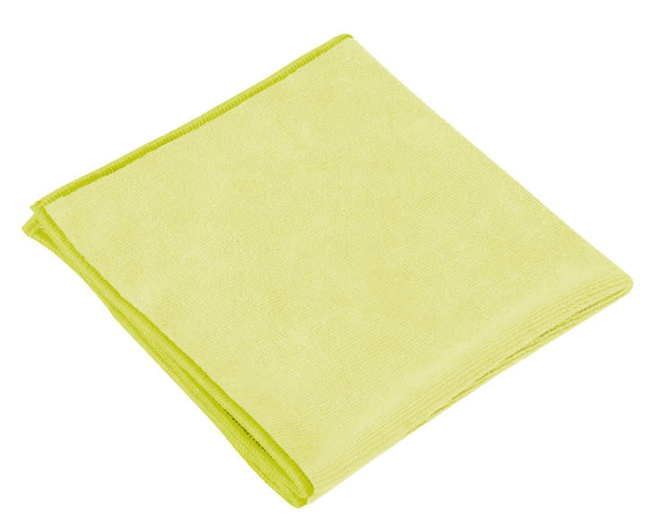 H/W MICROFIBRE CLOTHS IN YELLOW - Pack 10