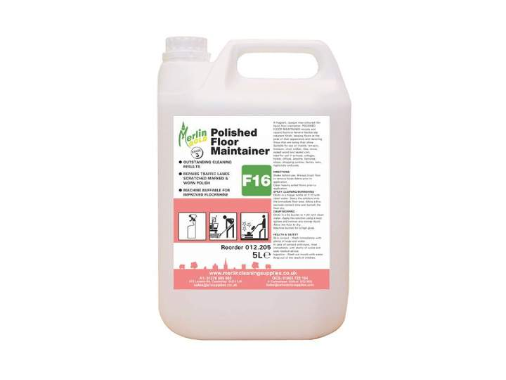 MERLIN F16 POLISHED FLOOR MAINTAINER - 5ltr