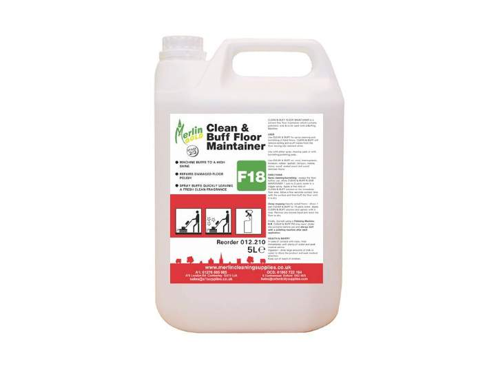 MERLIN F18 CLEAN & BUFF FLOOR MAINTAINER - 5ltr