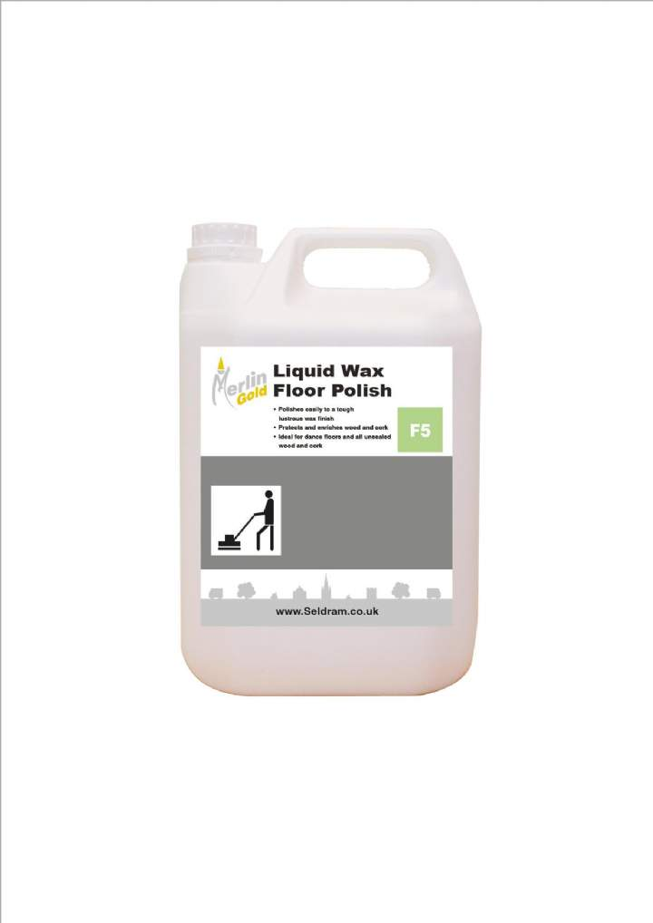 MERLIN LIQUID WAX FLOOR POLISH - 5ltr