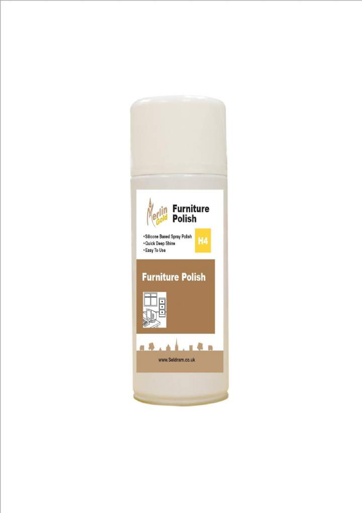 MERLIN H4 AEROSOL FURNITURE POLISH - 12x400ml