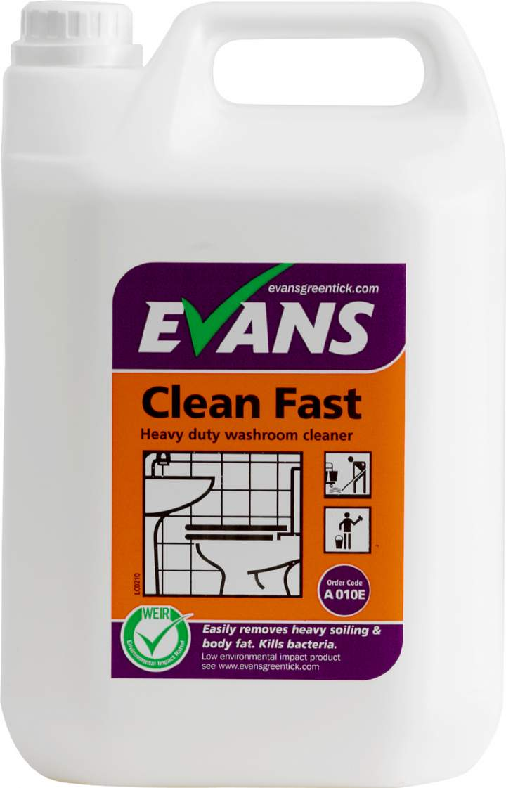 CLEAN FAST WASHROOM CLEANER - 5ltr