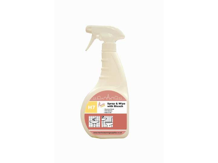 MERLIN H7 SPRAY & WIPE + BLEACH - 6x750ml