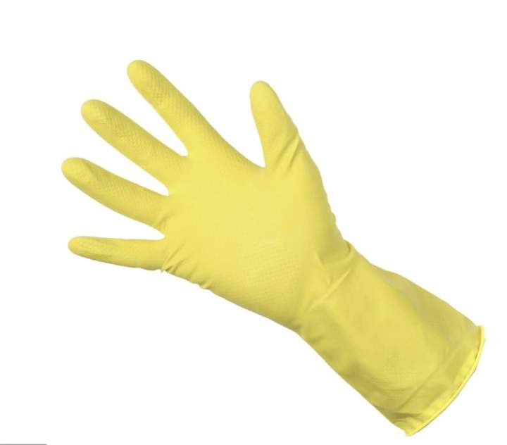 SMALL BDGT HOUSEHOLD RUBBER GLOVES - Pack 12