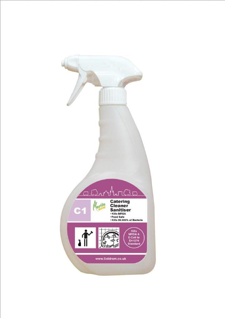 MERLIN C1 CATERING SANITISER - 6x750ml