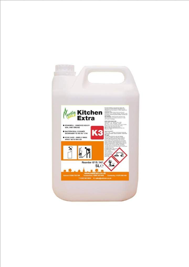 MERLIN S7 KITCHEN EXTRA CLEANER SANITISER - 5ltr