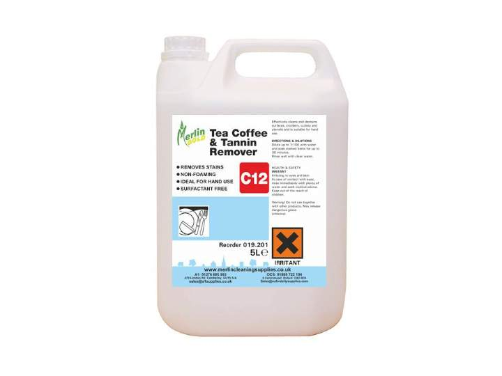 MERLIN C12 TEA & COFFEE STAIN REMOVER - 5ltr