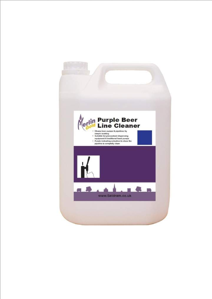 MERLIN PURPLE BEERLINE CLEANER - 2x5ltr