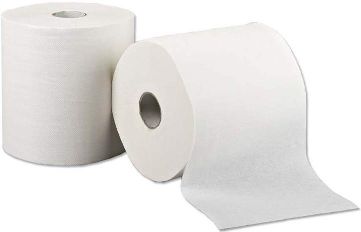 2PLY LARGE LEONARDO WHITE ROLL TOWEL - Ctn 6
