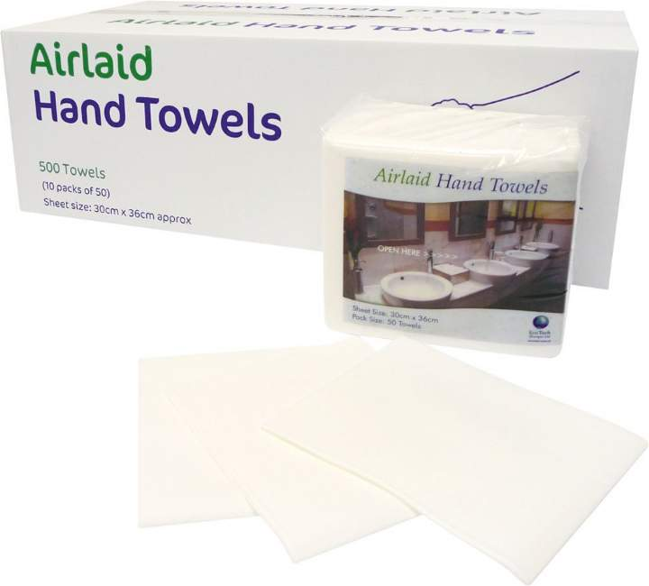 AIRLAY LUXURY 1/4FOLD HAND WIPES - Ctn 500