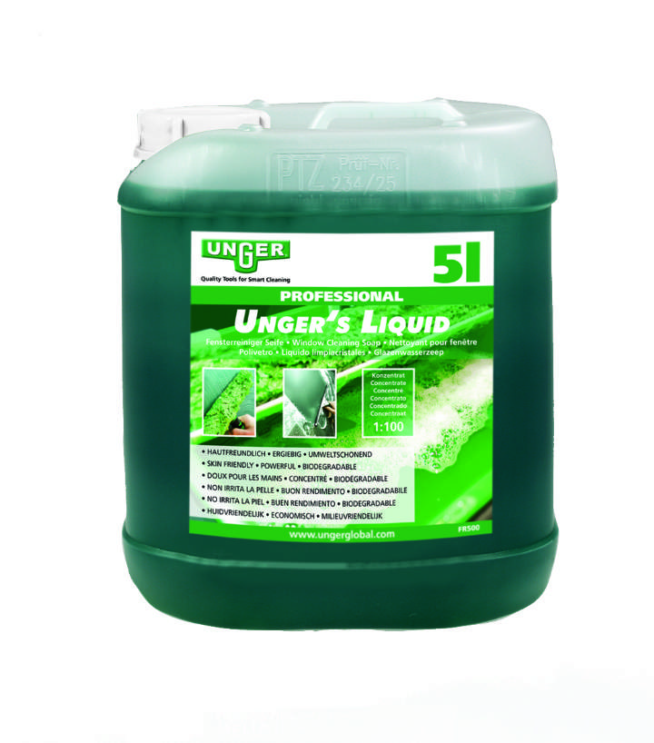 UNGER WINDOW CLEANERS LIQUID 5Ltr - 5ltr