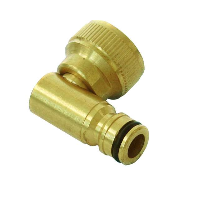 BRASS SWIVEL 90' HOSEREEL CONNECTOR BHC.90 - Each