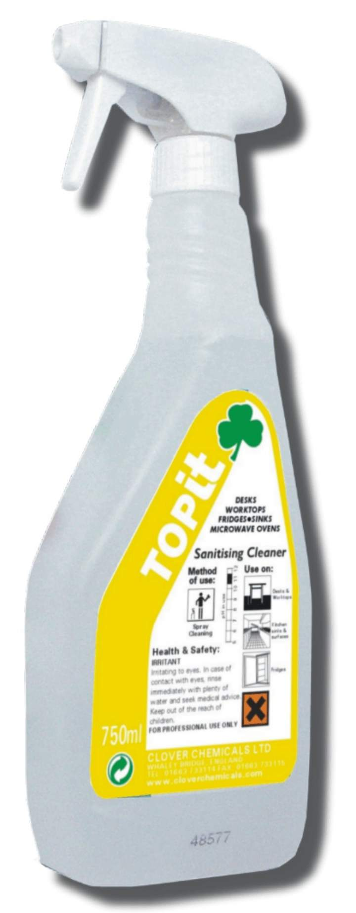 TOPIT SANITISING CLEANER RTU - 6x750ml