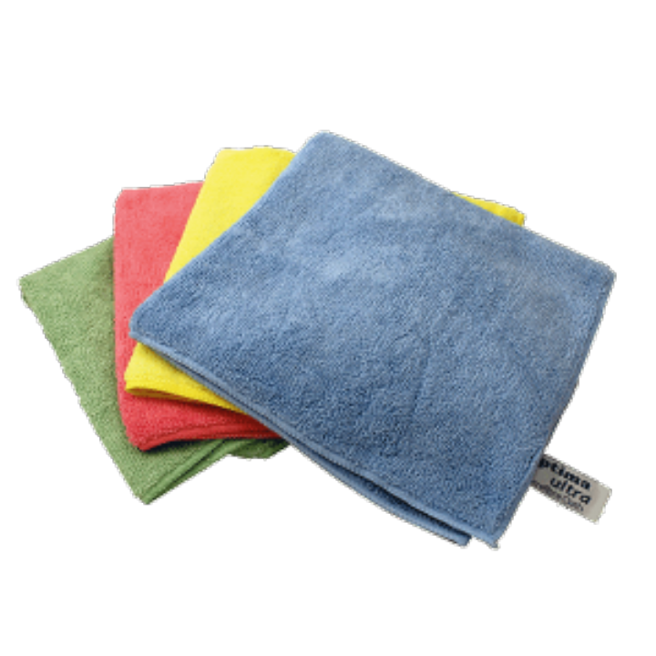 OPTIMA L/W MICROFIBRE CLOTHS GREEN - Pack 10