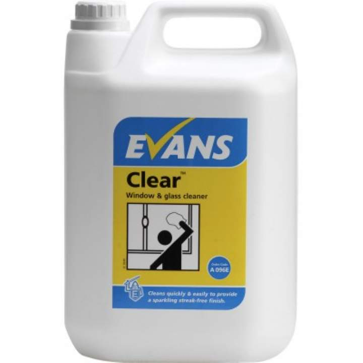 EVANS CLEAR GLASS & MIRROR CLEANER RTU - 5ltr