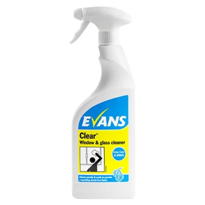 EVANS CLEAR GLASS & MIRROR CLEANER - 6x750ml