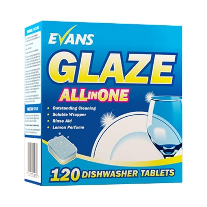 GLAZE 5 IN 1 CATERING DISHWASH TABLETS - Ctn 100