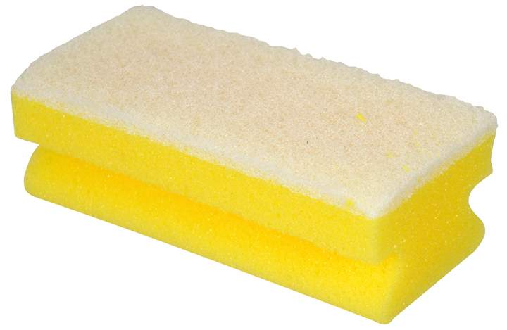 NON SCRATCH WHITE/YELLOW  SPONGE SCOURER - Pack 10