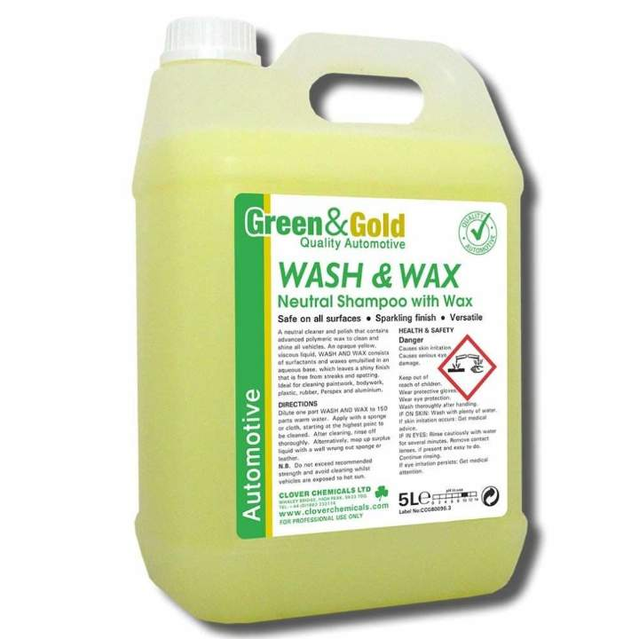 CAR WASH & WAX SHAMPOO - 5ltr