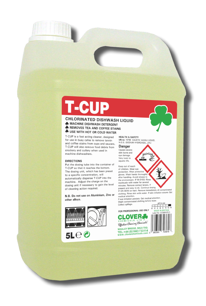 T-CUP DISHWASH with TANNIN REMOVER - 2x5ltr