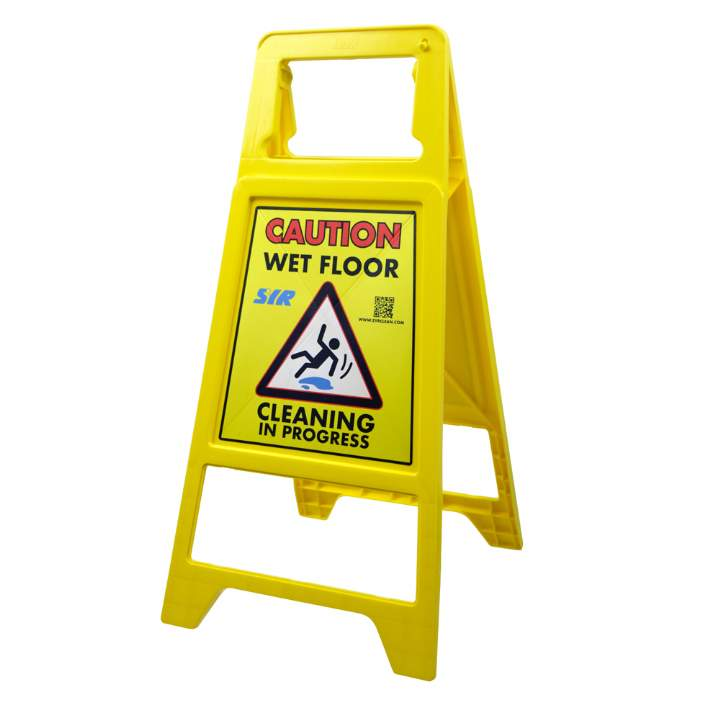CAUTION WET FLOOR PLASTIC A-FRAME SIGN - Each