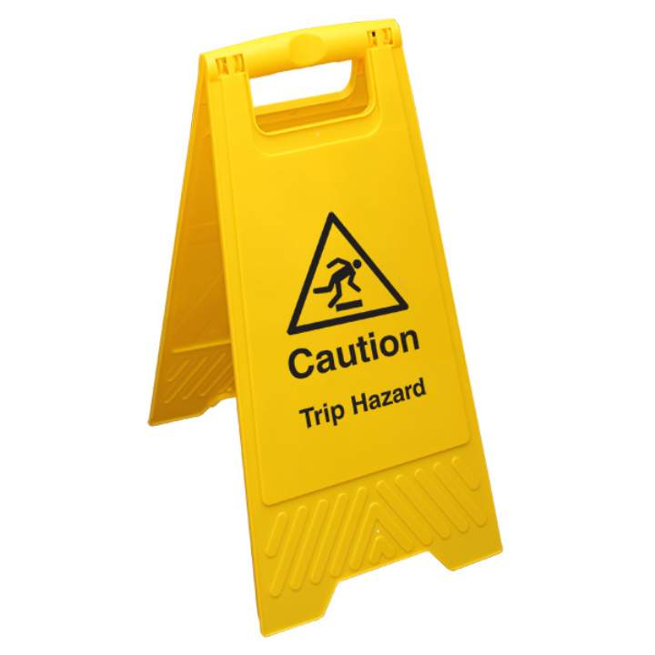 TRIP HAZARD PLASTIC FLOOR SAFETY SIGN - Each