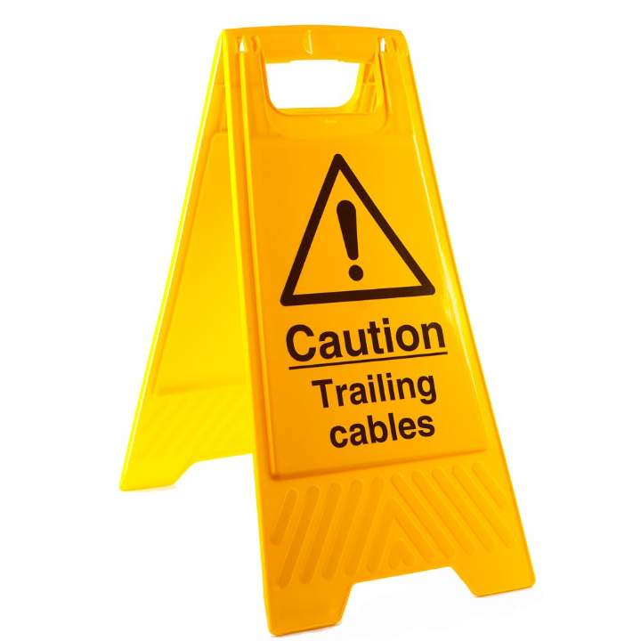 TRAILING CABLE - SAFETY SIGN - Each