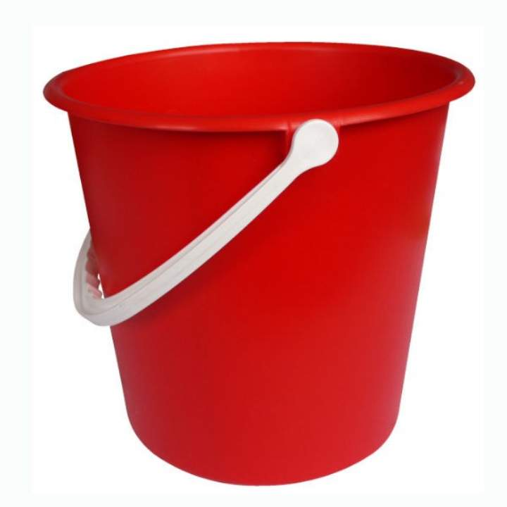 RED PLASTIC BUCKET 9ltr - Each