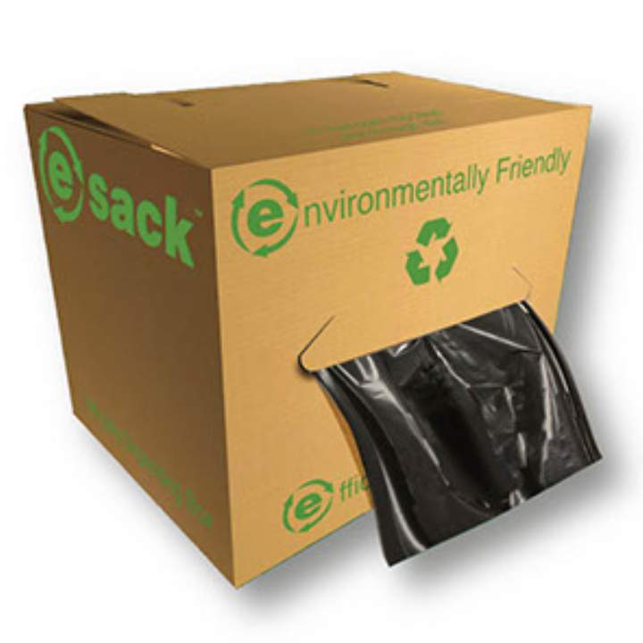 BLACK MEDIUMWEIGHT PORTABLE E-SACKS - Ctn 4x75
