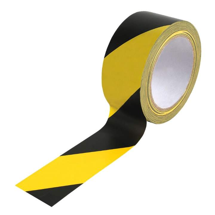 BLACK/YELLOW BARRIER TAPE 33mtr - Each