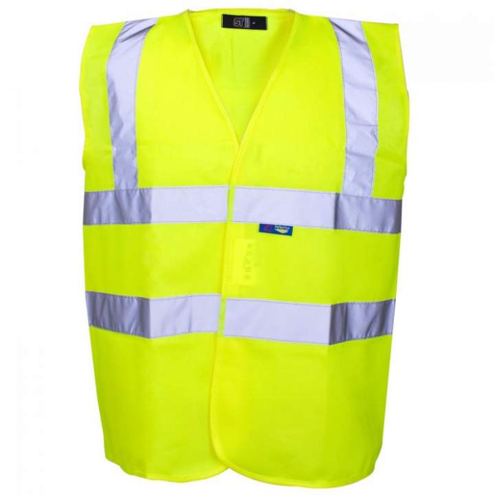 HI-VIS VEST YELLOW MED - Each