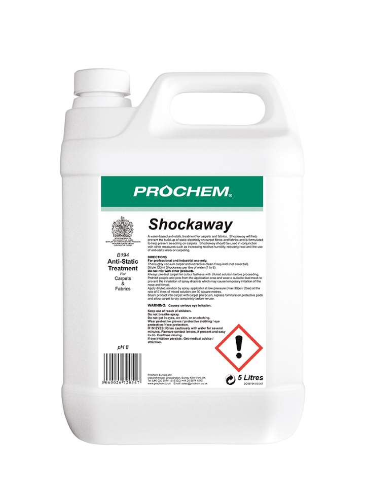 SHOCKAWAY ANTI STATIC SPRAY - 5ltr