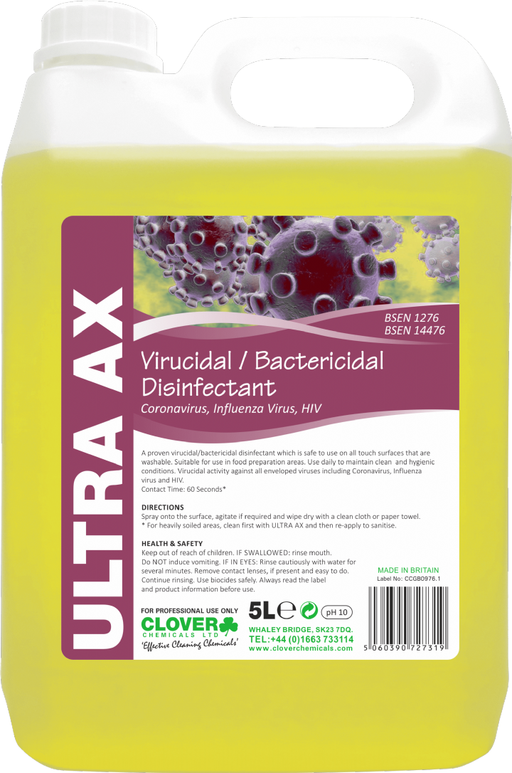ULTRA AX VIRACIDAL SURFACE CLEANER 2x5ltr