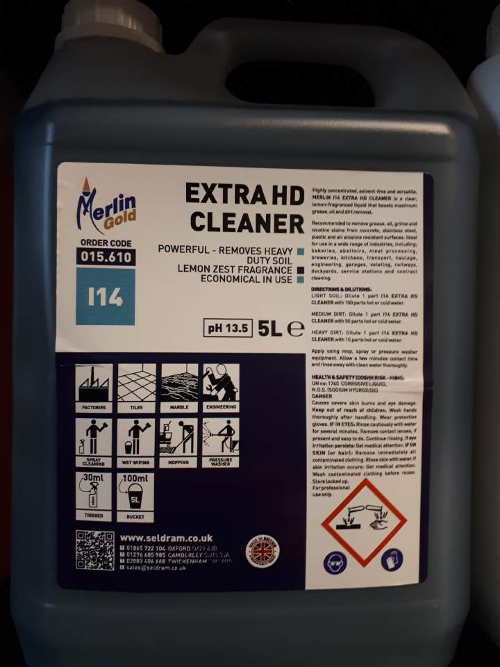 GOLD H4 EXTRA H-D CLEANER - 5ltr