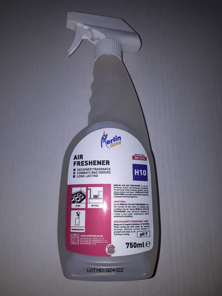 MERLIN H10 TRIGGER AIR FRESHENERS - 6x750ml