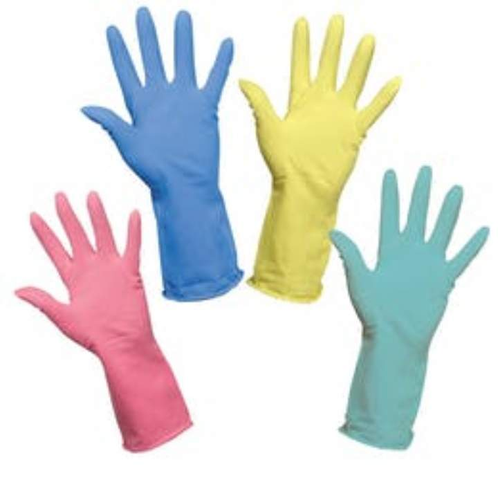 PREMIUM RUBBER GLOVES LARGE - Pack 6