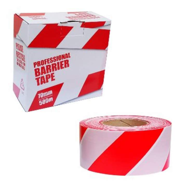RED/WHITE BARRIER TAPE 500mtr - Each