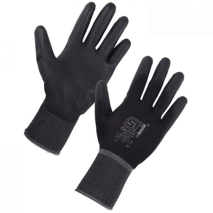 BLACK ELECTRON GLOVES LARGE - Each