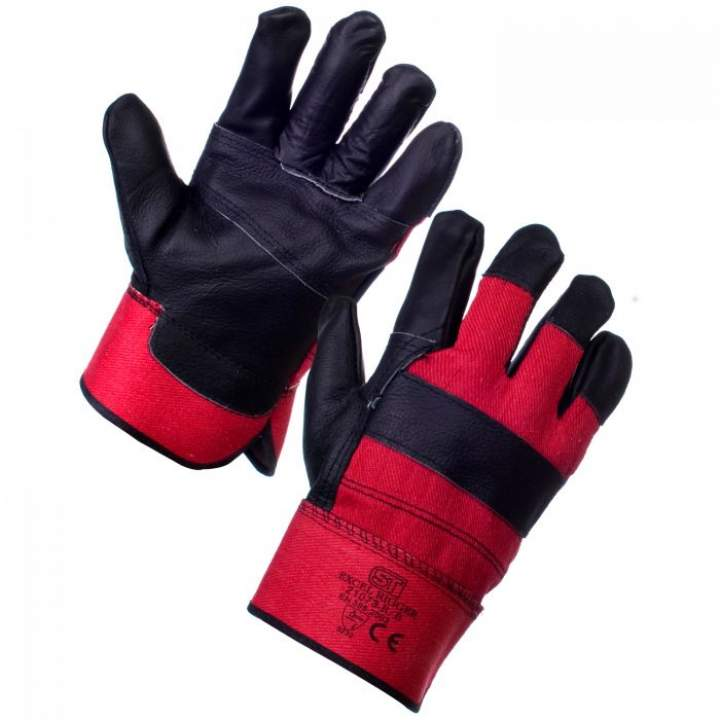 STANDARD RED/BLACK RIGGER GLOVES ONE SIZE - Pair